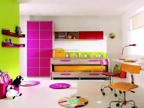 Decoraci n moderna para un dormitorio de una adolescente - Decoracion dormitorios juveniles pintura ...