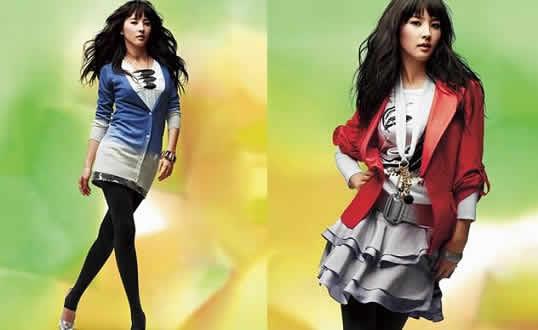 Moda coreana femenina