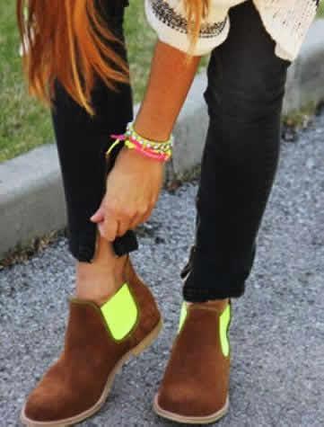colorido en los calzados