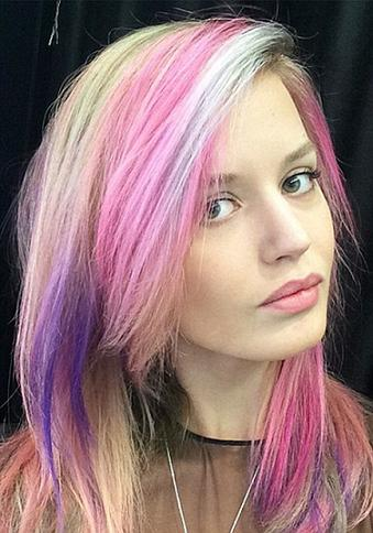 Georgia May Jagger posted this image of her with rainbow hair 2015 Image from Georgia May Jagger - for Nikki